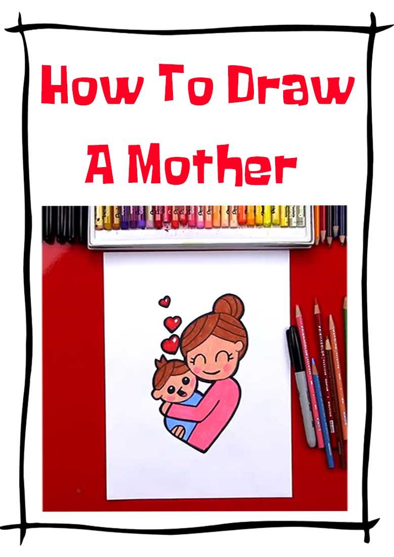 فیلم آموزش نقاشی  How draw a mother