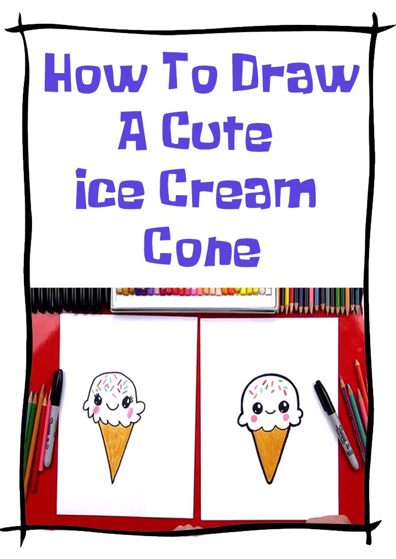 فیلم آموزش نقاشی How to draw a cute ice cream